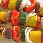 Vegetable Kabobs with Garlic Mustard Marinade