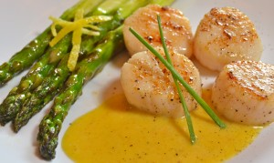 Sea Scallops with Aioli