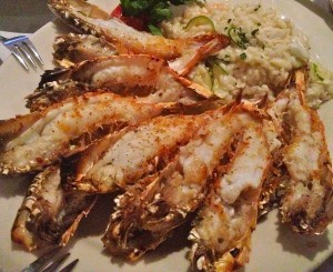 Langostino's with Crab and Shrimp Risotto