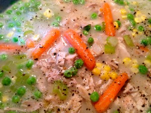 Turkey Pot Pie with Thanksgiving Day Leftovers