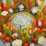 Christmas Vegetable Wreath with Knorr Vegetable Dip