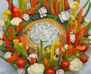 Christmas Vegetable Wreath with Knorr Vegetable Dip
