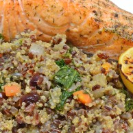 Quinoa, Red Rice and Kale