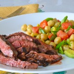 Avocado Mexican Bean Salad with Seared Skirt Steak