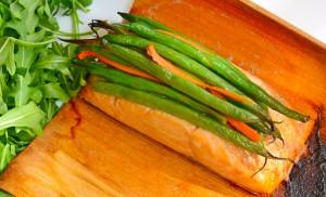 Asian Salmon in Cedar Paper