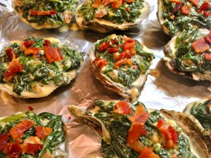 Oysters Rockefeller with 3-Cheeses