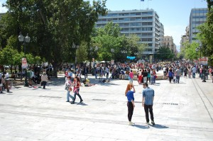 Near the Greek Parliament Building in Syntagma