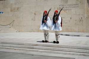 Changing of the Guard at the Greek Parliament http://www.youtube.com/watch?v=MiAJhaXO4sY
