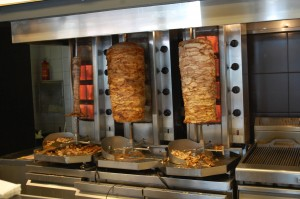 Gyro Machine at BOBO Souvlaki House
