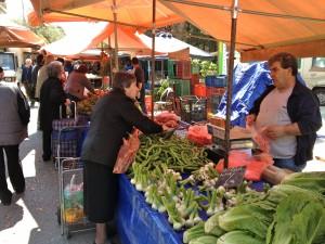 Local Street Vendors Selling Produce