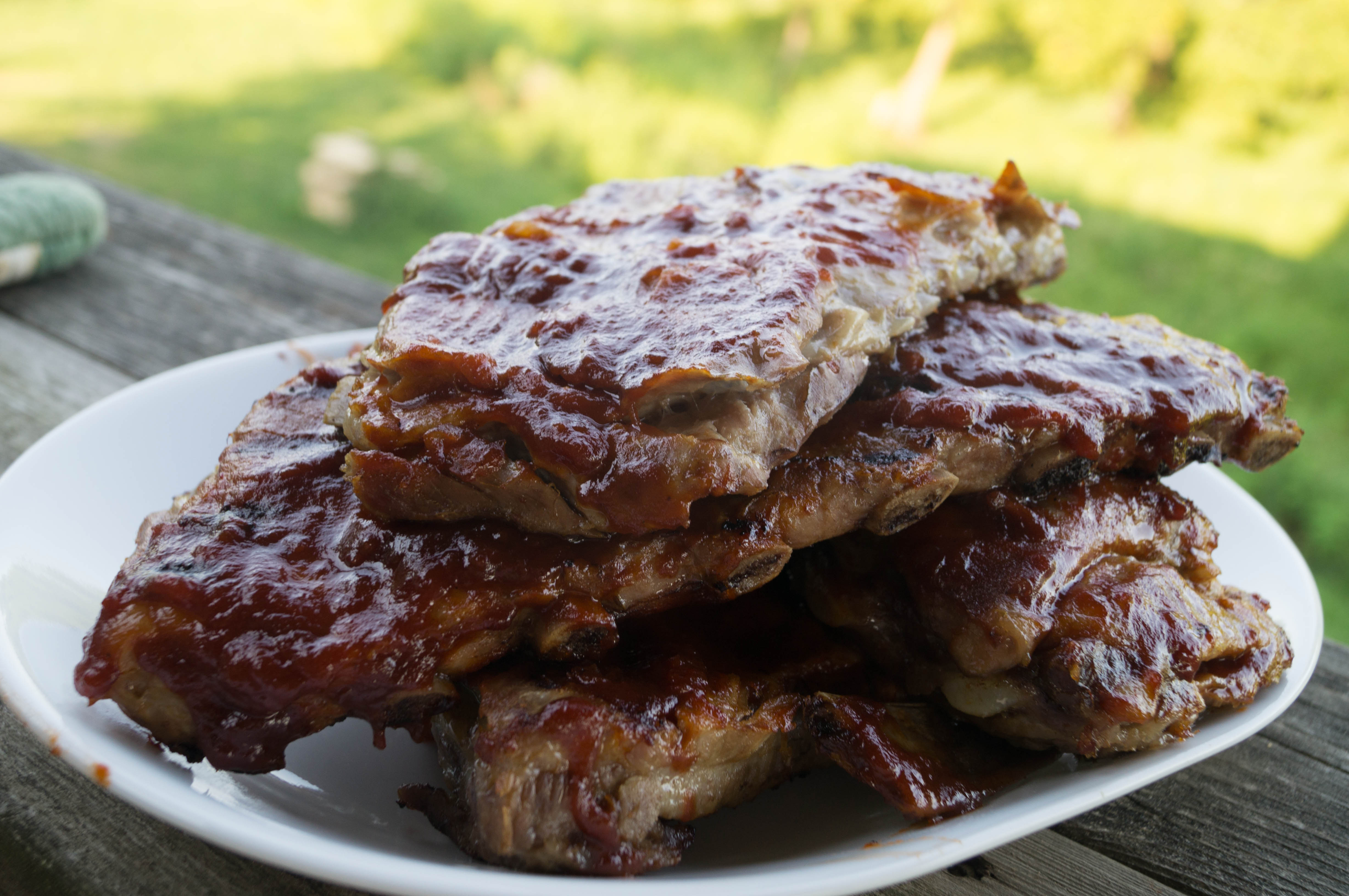 Grilled Baby Back Ribs with Whiskey BBQ Sauce by I n the Kitchen with ...