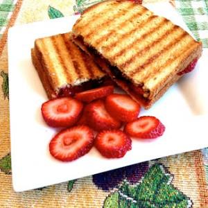 Strawberry and Chocolate Chip Panini