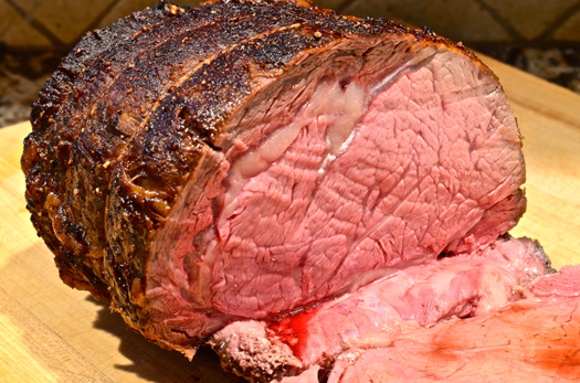 Prime Rib Roast with Cabernet au Jus