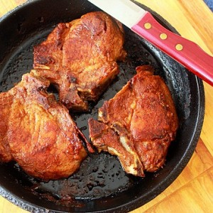 Skillet Roasted Pork Chops ~ Syrup and Biscuits