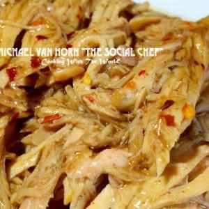 The Social Chef Crockpot Spicy Honey Chicken