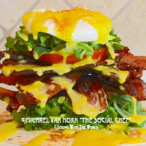 Bacon Boy Eggs Benedict with Circle B Ranch Hickory Smoked Bacon