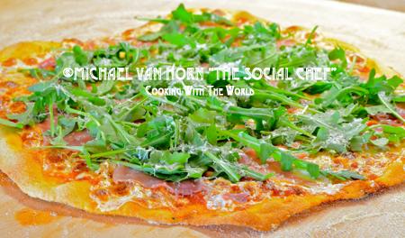 Pizza with Prosciutto and Arugula RL